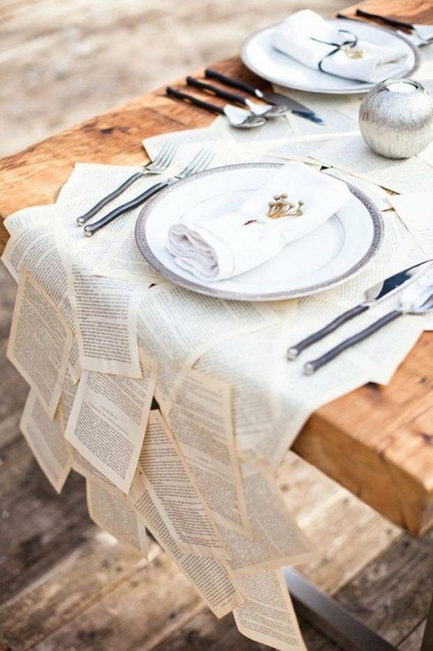 Páginas toalha de mesa